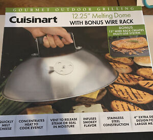 """Cuisinart 12.5 Melting Dome with bonus 12"""" wire rack built in vent brand new"""