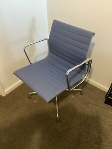 Vitra Eames EA108 Swivel Chrome / Hopsack Office Chair