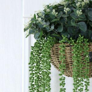 Artifical Hanging Ivy Vine Leaf Fake Foliage Plant Wall Window Door Decor #E18