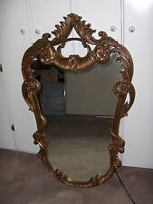 Vintage Gold Mirror French Rococo Style Union City Mirror & Table Co Wall Mount