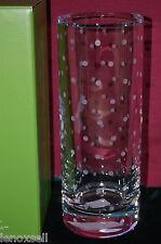 "Kate Spade Larabee Dot Cylinder 10"" Vase Crystal New in Box 6248165"