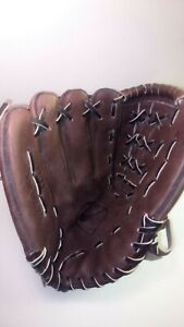 "Nike Diamond Ready KDR 1250 12.50"" Left Hand Thrower All Leather Glove Brown"