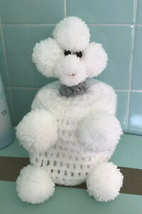 Handmade Poodle Toilet Roll Cover