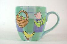 Large Brushes Hand Painted KJC Mug Easter Theme