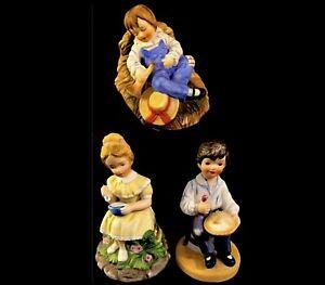 NURSERY RHYME FIGURINES LITTLE BOY BLUE MISS MUFFET JACK HORNER VINTAGE