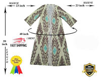 Adras National  Beautiful Silk Traditional Uzbek Robe Chapan SALE WAS $139.00