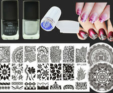 7Pcs/Set Arabesque Nail Art Stamp Plates Stamping Polish W/Stamper Scraper DIY