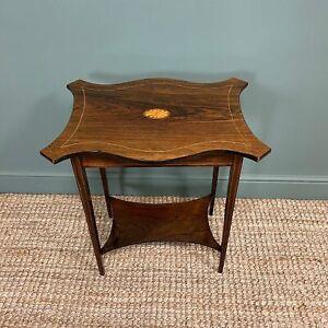 Elegant Inlaid Rosewood Antique Occasional Table