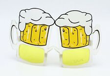 New Pair Party Beer Mug Yellow Lens Party Novelty Sunglasses UV400 #P1007