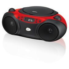 am/fm cd boom box | gpx boombox player radio with portable playback red line new