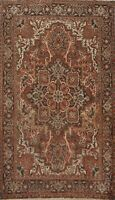 Vintage Geometric Traditional Area Rug Hand-Knotted Oriental RED Wool Carpet 7x9