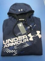UNDER ARMOUR MEN'S STORM ARMOUR FLEECE GRAPHIC HOODIE, NAVY (PH-13)