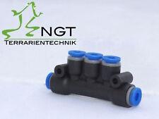 T-Mehrfachverteiler  5fach für 6mm Schlauch Terrarien Beregnung NGT
