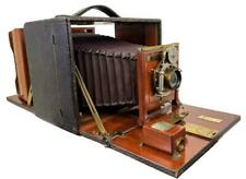 Antique Rochester Optical Co. Premo Long Focus 5x7 Mahogany Folding Box Camera