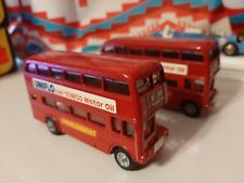 Pair Of Budgie Toys AEC Routemaster 64 seater double decker London buses