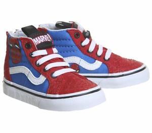 Vans Off The Wall Infant Toddler X Marvel Comics Spider-Man Sk8-Hi Zip Shoes