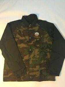 Vans New Torrey Button Down Jacket Youth Boy's Camo-Black Size Medium