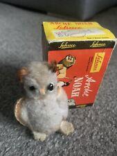 Schuco Noahs Ark Owl Miniature Wool Plush Felt 6cm 3in 1960 no beak no ID Vtg