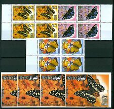 Iraq Irak 2007, Butterflies, Set + M/S, SG2219-2221,M52222,Block of 4 MNH AA3500