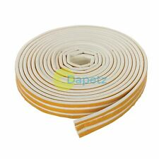 Profile 15m White Draught Excluder Weather Seal Strip Door Window Insulation