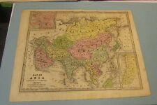 1843 Smith Geography Hand Colored Map of Asia Persia Hindostan Anam Palestine