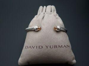 David Yurman 5mm Cable Classics Morganite and Diamonds Cable Cuff Bracelet Large