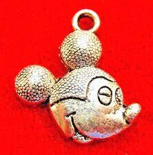 25Pcs. WHOLESALE Tibetan Silver Mickey Mouse Charms Pendants Earring Drops Q1214