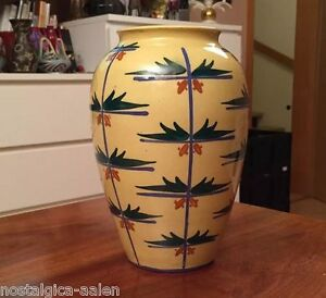 Art Deco - Keramikvase um 1920 handbemalt