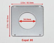 NEW - Graflex Crown Speed Baby 2x3 - 2¼ x 3¼ - Camera Lens Boards - Copal #0