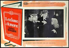 CINEMA-fotobusta UNA LEZIONE D'AMORE dahlbeck, lombard, andersson, BERGMAN