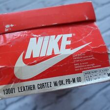 Vintage 80s Deadstock Nike Leather Cortez Shoes 13001