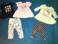 Set of 2 Baby Girl 3-6 Months Outfits, 1- 2 Piece & 1- 3 Piece, Hello Kitty