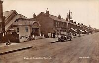 POSTCARD    LONDON  NORTHWOOD  CHURCH  ROAD  CINEMA SHOPS  VINTAGE  CAR   RP