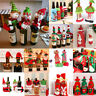 Merry Christmas Wine Bottle Cover Santa Claus Xmas Tree Ornament Home Decoration