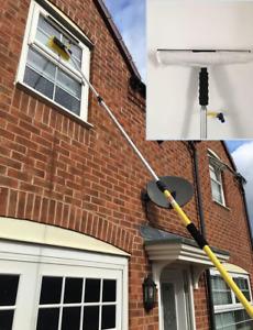 3.5M Window Cleaning Pole Brush, Window Cleaner Equipment + Window Squeegee Set