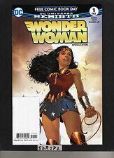 Wonder Woman 1 Dc Rebirth Nm New 2017 Fcbd Reprint Unstamped 1st Print
