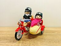 Sylvanian Families Motorcycle & Side Car George & Mildred Mulberry Raccoon 2010