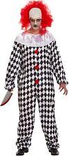 Adult Scary Mad Evil Killer It Clown Halloween Fancy Dress Costume & Wig V00 353
