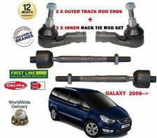 FOR FORD GALAXY + TDCI 2006->NEW 2X OUTER + 2x INNER TIE TRACK RACK ROD END