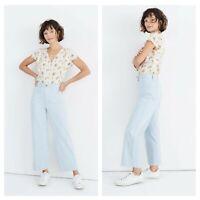 NWOT Madewell Slim Emmett Wide-Leg Crop Pants in Speckle Size 31