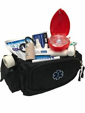 LINE2design First Aid Fanny Pack Kit - EMS Paramedic Medical Supplies Bag Black