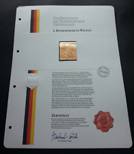 Germany Science And Technology Spacelab 1983 (gold stamp) MNH *certificate *rare