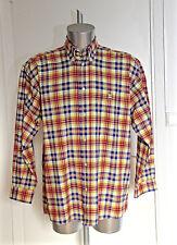 bonito camisa occidental cow boy de cuadros SERGE BLANCO talla XL