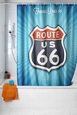 Wenko 21587100 Vintage Route 66 Rideau de douche Anti-moisissure 180x200 cm