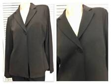 NWT $238 EILEEN FISHER JACKET PETITE LARGE (PL) CHOCOLATE BROWN SHAPED NOTCHED