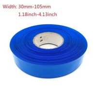 PVC Heat Shrink Wrap for Battery Packs Width 30mm-105mm (3 meters 118inch)