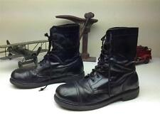 BLACK DISTRESSED COMBAT MILITARY PARATROPER LACE UP FIELD BOOTS SZ 13 M