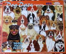 Dog Daze jigsaw puzzle 1000 piece dogs breeds Tomoyo Pitcher White Mountain
