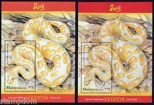 MALAYSIA 2013 Snake/Reptile SS/MS RM3 & RM5 MNH @M456