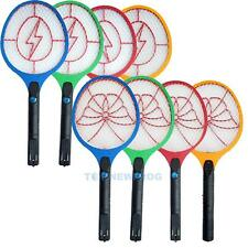 Rechargeable LED Electric Bug Pest Fly Mosquito Wasp Killer Swatter Zapper Rack